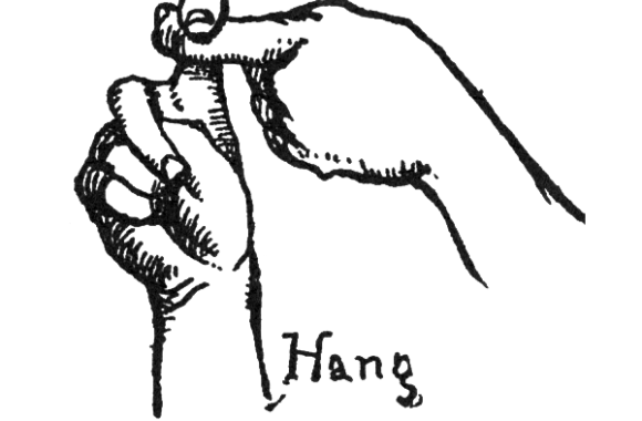 Plains Sign Talk: 'hang'